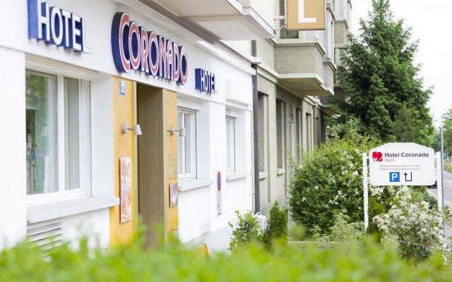 Отель Coronado Швейцария, Цюрих - 8 отзывов об отеле, цены и фото номеров - забронировать отель Coronado онлайн вид на фасад