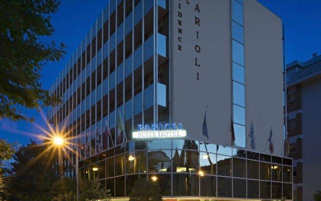 Отель Suite Hotel Parioli Италия, Римини - 7 отзывов об отеле, цены и фото номеров - забронировать отель Suite Hotel Parioli онлайн вид на фасад