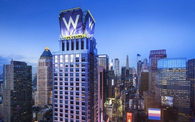Отель W New York - Times Square США, Нью-Йорк - 1 отзыв об отеле, цены и фото номеров - забронировать отель W New York - Times Square онлайн вид на фасад