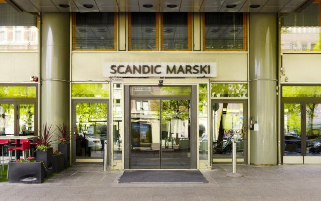 Отель Marski by Scandic вид на фасад