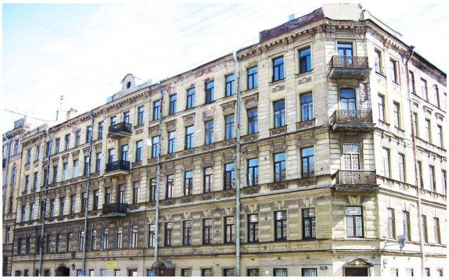 Мини-Отель Альтбург на Греческом Санкт-Петербург вид на фасад