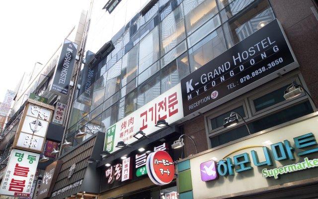 K-grand Hostel Myeongdong Сеул вид на фасад