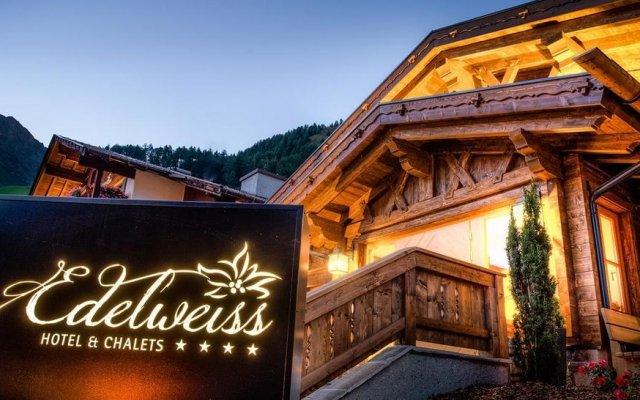 Hotel Edelweiss Сеналес вид на фасад
