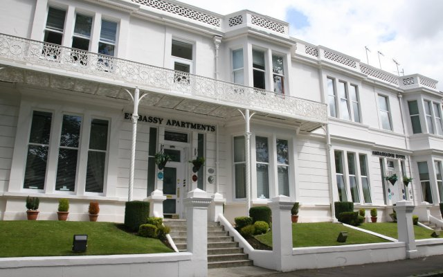 Отель Embassy Apartments Великобритания, Глазго - отзывы, цены и фото номеров - забронировать отель Embassy Apartments онлайн вид на фасад