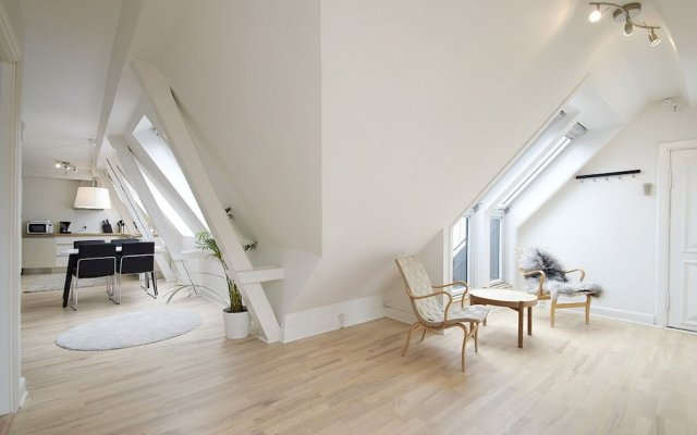 Апартаменты Bright and Modern Apartment With a Rooftop Terrace in the Center of Copenhagen Копенгаген спа