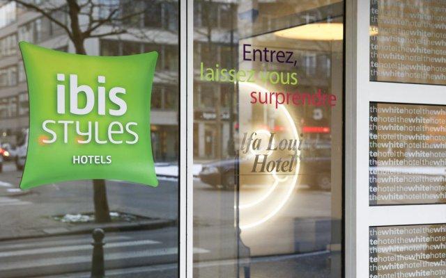 Отель Ibis Styles Louise Брюссель вид на фасад