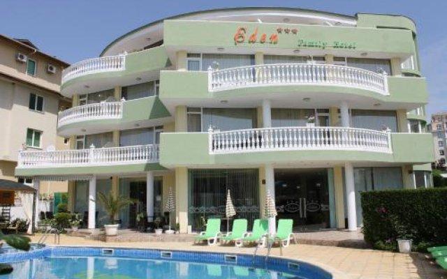 Отель Eden Болгария, Свети Влас - отзывы, цены и фото номеров - забронировать отель Eden онлайн вид на фасад