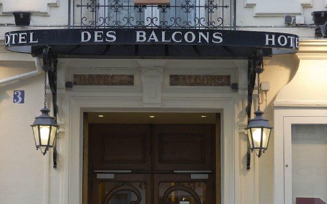 Grand Hotel Des Balcons Париж вид на фасад