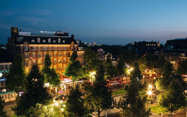 Отель Nh Amsterdam Schiller Амстердам вид на фасад