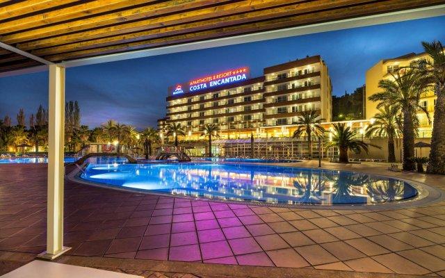 Отель Aparthotel Costa Encantada Испания, Льорет-де-Мар - 3 отзыва об отеле, цены и фото номеров - забронировать отель Aparthotel Costa Encantada онлайн вид на фасад