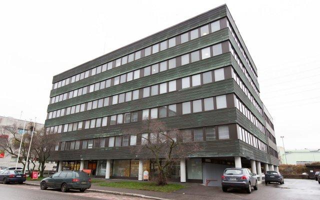 Отель Forenom Aparthotel Helsinki Herttoniemi вид на фасад
