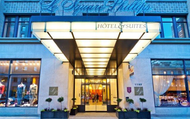 Отель Le Square Phillips Hotel And Suites Канада, Монреаль - отзывы, цены и фото номеров - забронировать отель Le Square Phillips Hotel And Suites онлайн вид на фасад
