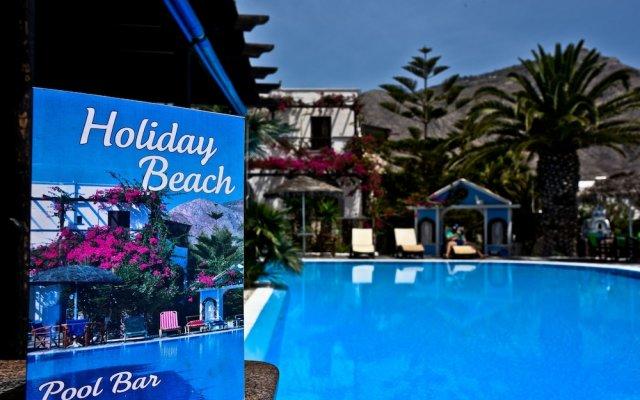 Отель Holiday Beach Resort Греция, Остров Санторини - отзывы, цены и фото номеров - забронировать отель Holiday Beach Resort онлайн вид на фасад