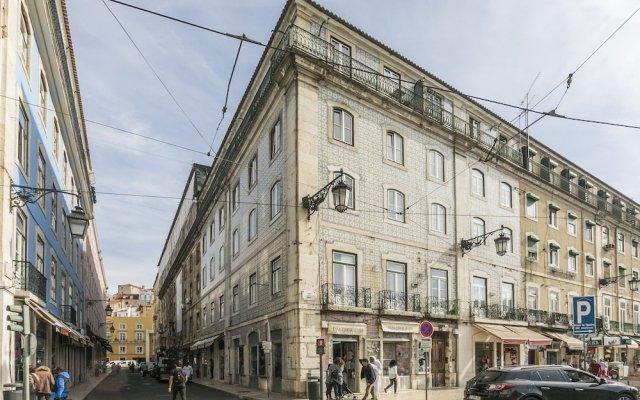 Апартаменты LxWay Apartments Praça da Figueira Лиссабон вид на фасад