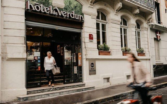 Отель Best Western Hotel De Verdun Франция, Лион - отзывы, цены и фото номеров - забронировать отель Best Western Hotel De Verdun онлайн вид на фасад