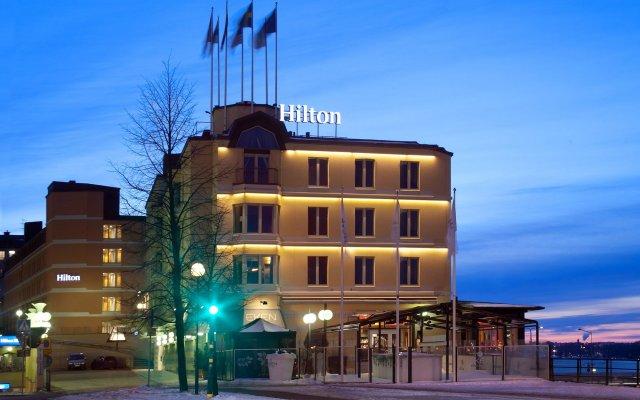 Отель Hilton Stockholm Slussen Швеция, Стокгольм - 9 отзывов об отеле, цены и фото номеров - забронировать отель Hilton Stockholm Slussen онлайн вид на фасад