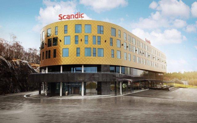 Отель Scandic Flesland Airport вид на фасад