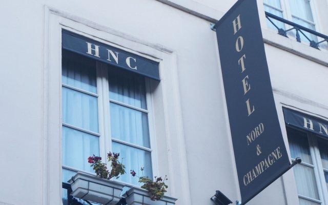 Отель Hôtel Nord Et Champagne Франция, Париж - 14 отзывов об отеле, цены и фото номеров - забронировать отель Hôtel Nord Et Champagne онлайн вид на фасад
