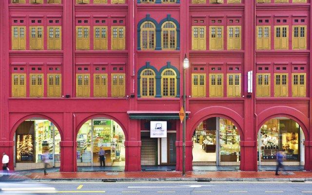 Capsule Pod Boutique Hostel Сингапур вид на фасад