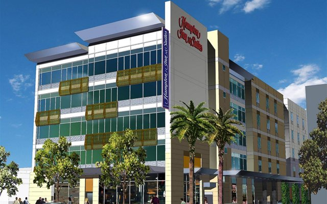 Отель Hampton Inn & Suites Los Angeles/Hollywood США, Лос-Анджелес - 8 отзывов об отеле, цены и фото номеров - забронировать отель Hampton Inn & Suites Los Angeles/Hollywood онлайн вид на фасад