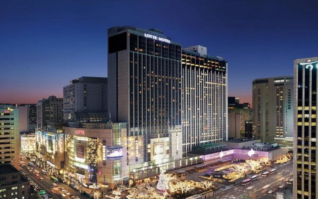Lotte Hotel Seoul вид на фасад