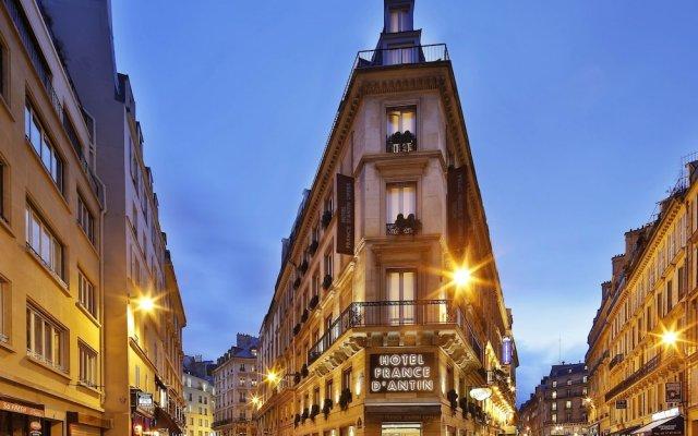 Отель France D'Antin Opera Париж вид на фасад