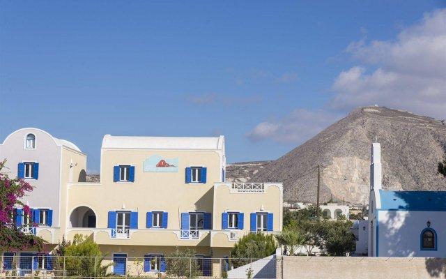 Отель Bella Santorini Studios вид на фасад
