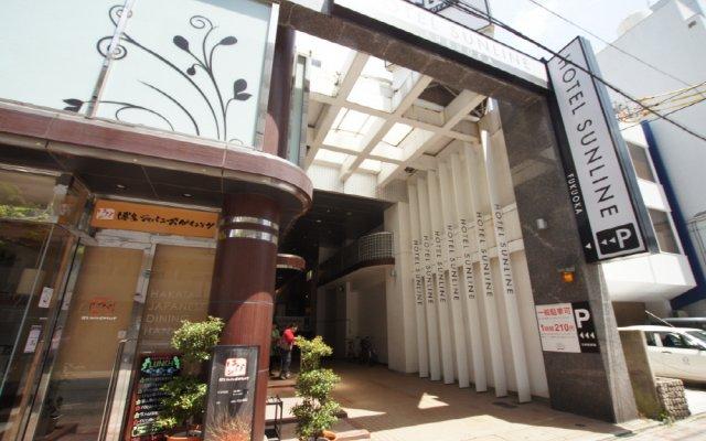 Отель Sunline Oohori Фукуока вид на фасад