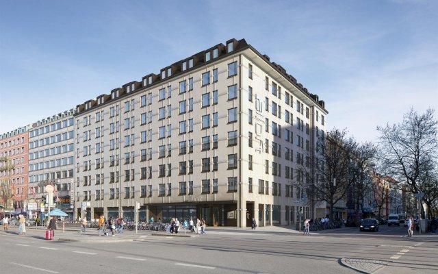 Отель Aloft Munich вид на фасад
