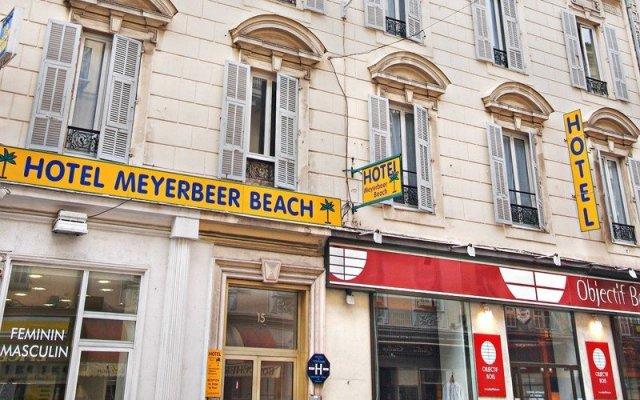 Отель Meyerbeer Beach Франция, Ницца - отзывы, цены и фото номеров - забронировать отель Meyerbeer Beach онлайн вид на фасад