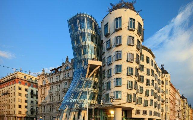 Dancing House Hotel Прага вид на фасад