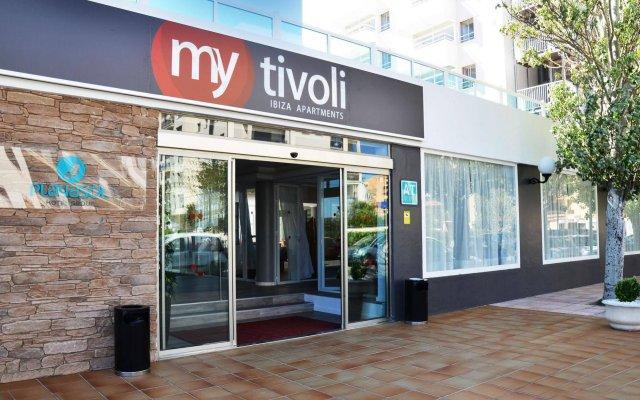 Отель Apartamentos Playasol My Tivoli Испания, Ивиса - отзывы, цены и фото номеров - забронировать отель Apartamentos Playasol My Tivoli онлайн вид на фасад