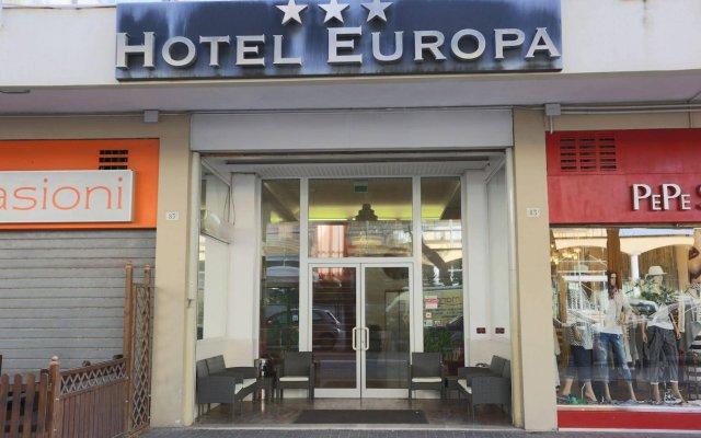 Отель Europa Италия, Римини - 9 отзывов об отеле, цены и фото номеров - забронировать отель Europa онлайн вид на фасад
