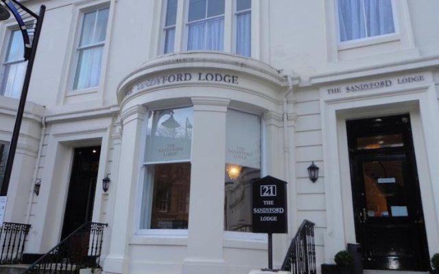Отель Sandyford Lodge Глазго вид на фасад