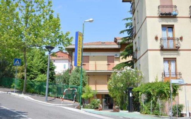 Отель Albergo Leonardo Кьянчиано Терме вид на фасад