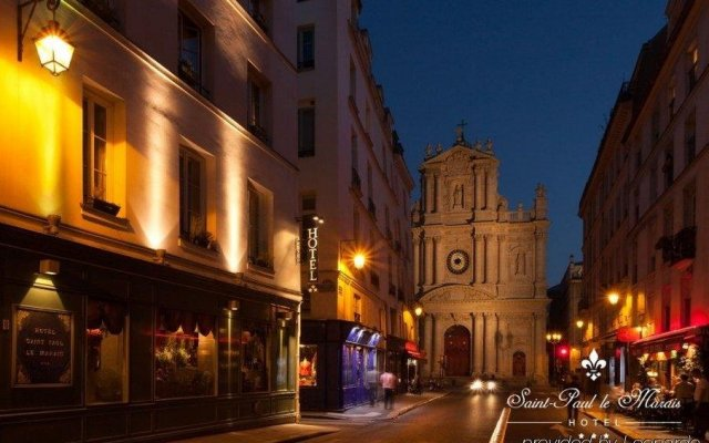 Отель Saint Paul Le Marais Париж вид на фасад
