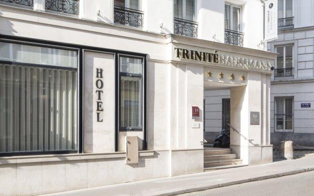 Отель Trinite Haussmann Париж вид на фасад