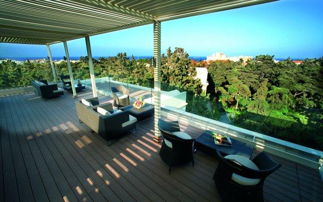 Отель Rodos Park Suites & Spa Греция, Родос - 1 отзыв об отеле, цены и фото номеров - забронировать отель Rodos Park Suites & Spa онлайн вид на фасад