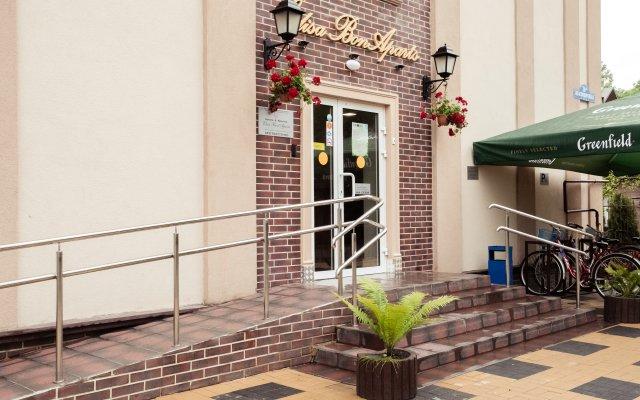 Гостиница Апарт-отель Элиза БонАпарт в Зеленоградске отзывы, цены и фото номеров - забронировать гостиницу Апарт-отель Элиза БонАпарт онлайн Зеленоградск вид на фасад