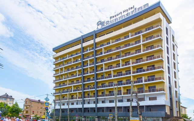 Гостиница Курортный отель Санмаринн All Inclusive в Анапе 10 отзывов об отеле, цены и фото номеров - забронировать гостиницу Курортный отель Санмаринн All Inclusive онлайн Анапа вид на фасад