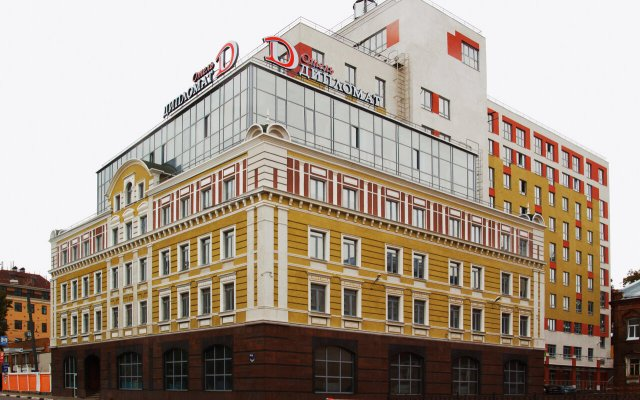Гостиница Дипломат в Нижнем Новгороде - забронировать гостиницу Дипломат, цены и фото номеров Нижний Новгород вид на фасад