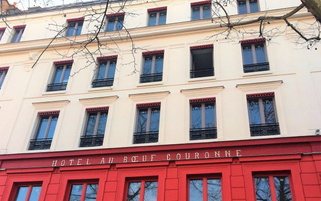 Отель Hôtel Restaurant Au Bœuf Couronné вид на фасад