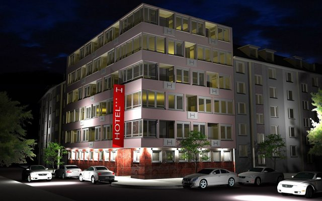 Отель Kempe Komfort Дюссельдорф вид на фасад