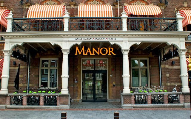 Отель The Manor Amsterdam вид на фасад