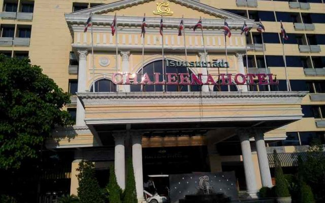 Chaleena Hotel Бангкок вид на фасад