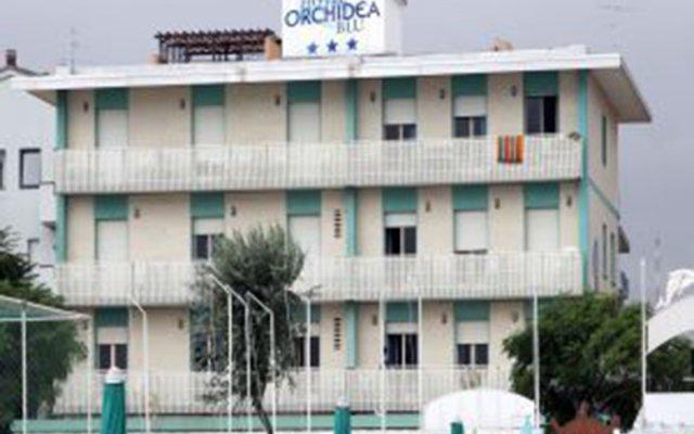 Отель Orchidea Blu Римини вид на фасад