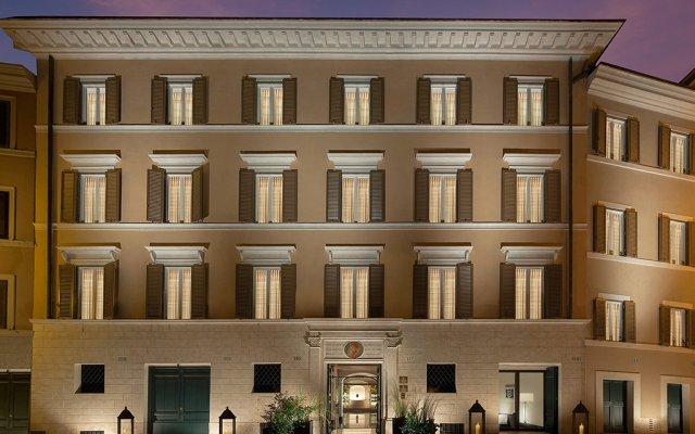 Отель Palazzo Scanderbeg Рим вид на фасад