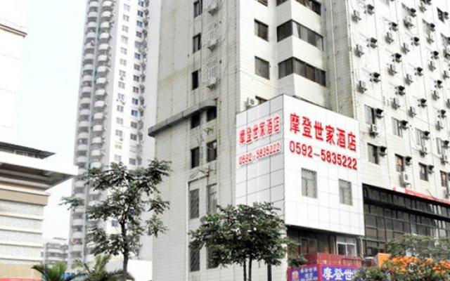 Отель Xiamen Mode Inn Wenzao Branch Сямынь вид на фасад