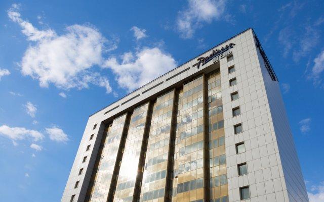 Гостиница Radisson Blu Belorusskaya вид на фасад