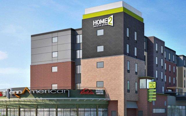 Отель Home2 Suites By Hilton Minneapolis Bloomington Блумингтон вид на фасад
